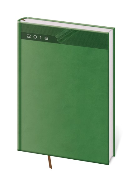 Diář denní A5 Print zelený
