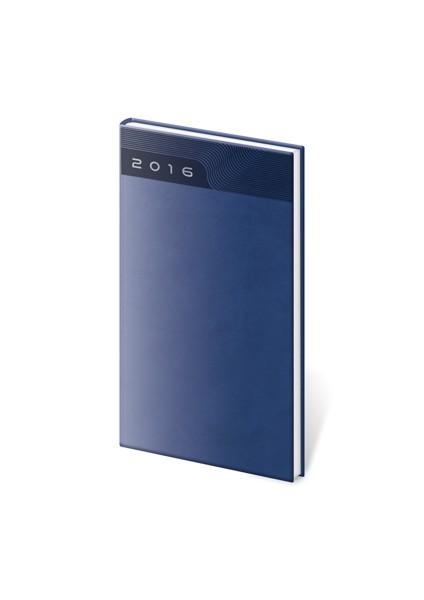 Diář kapesní Print modrý