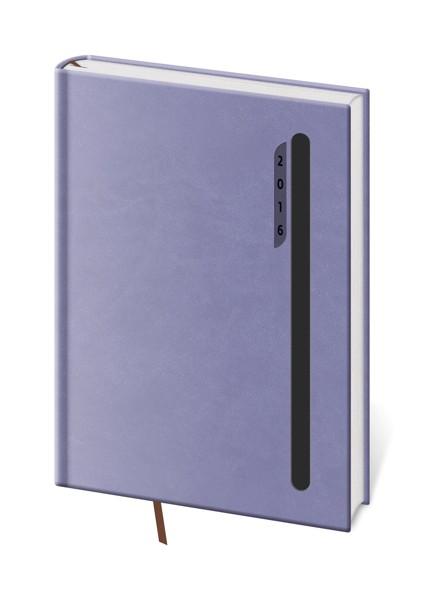 Diář denní A5 Violet fialový/černý