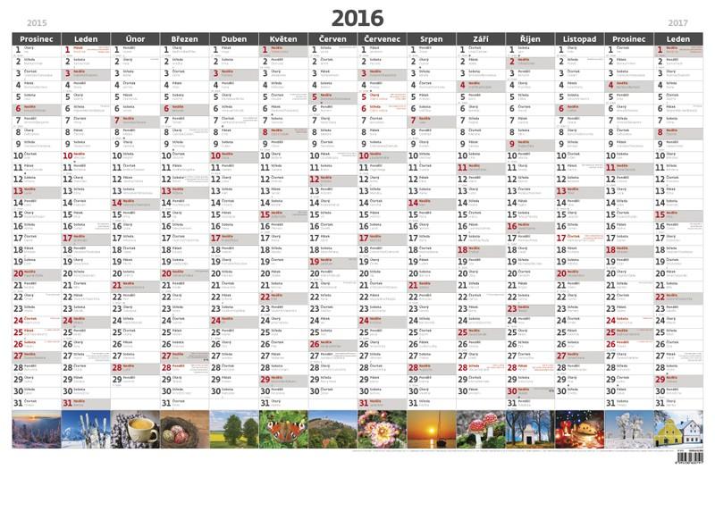 Plánovací roční mapa A1 obrázková kalendář