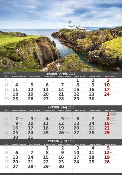 Pobřeží - 3měsíční kalendář