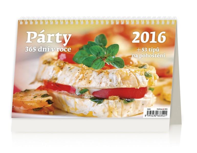 Párty 365 dní v roce 2016 kalendář