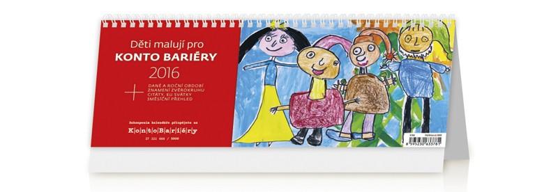 Děti malují pro Konto Bariéry kalendář