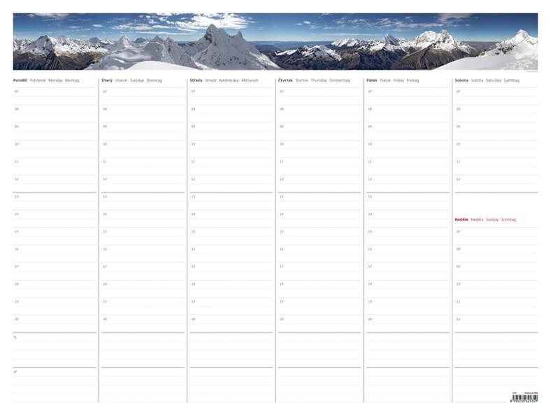 Týdenní plánovací mapa A2 kalendář